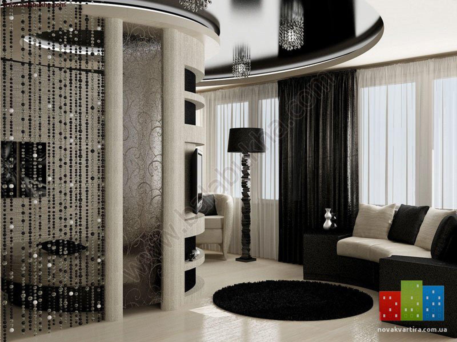 Дизайн квартир в черно белом
