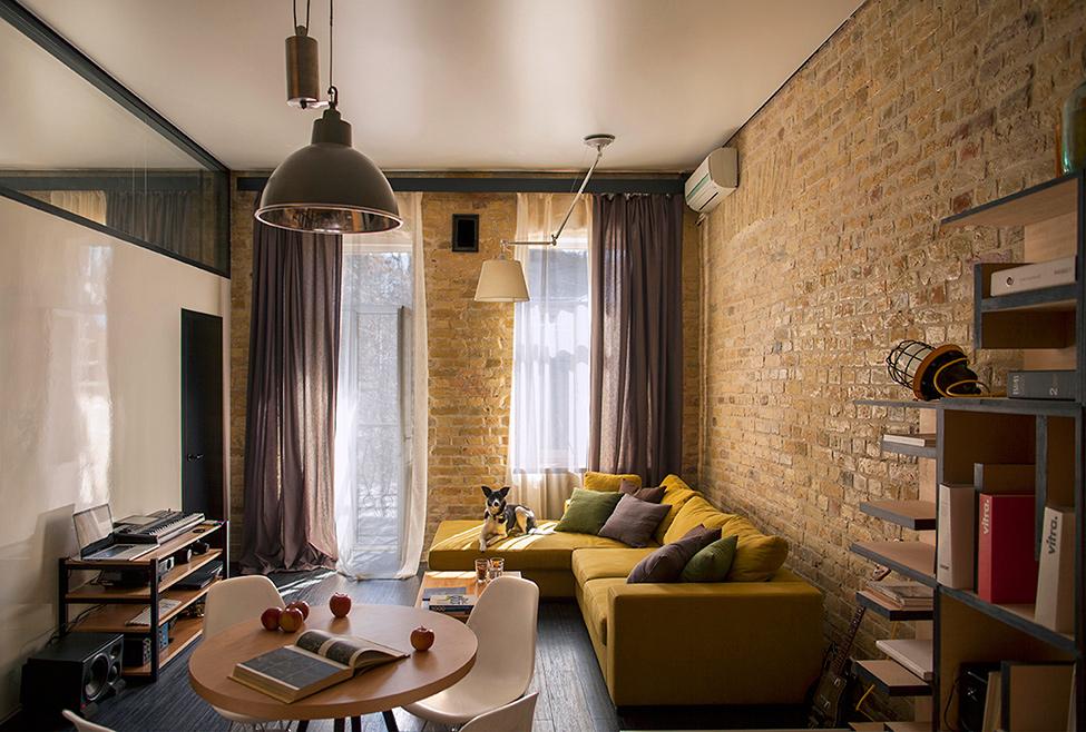Дизайн лофт маленьких квартир