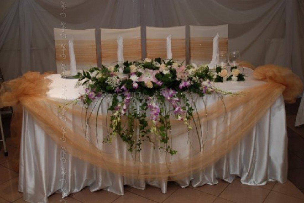 Фото украшение свадебного стола своими руками