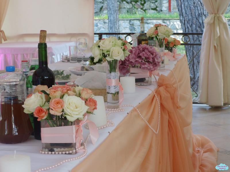 Украшение стола цветами на свадьбу своими руками - Теплотехник