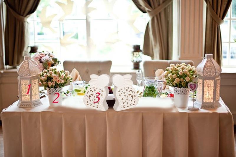 Украшение стола жениха и невесты своими руками