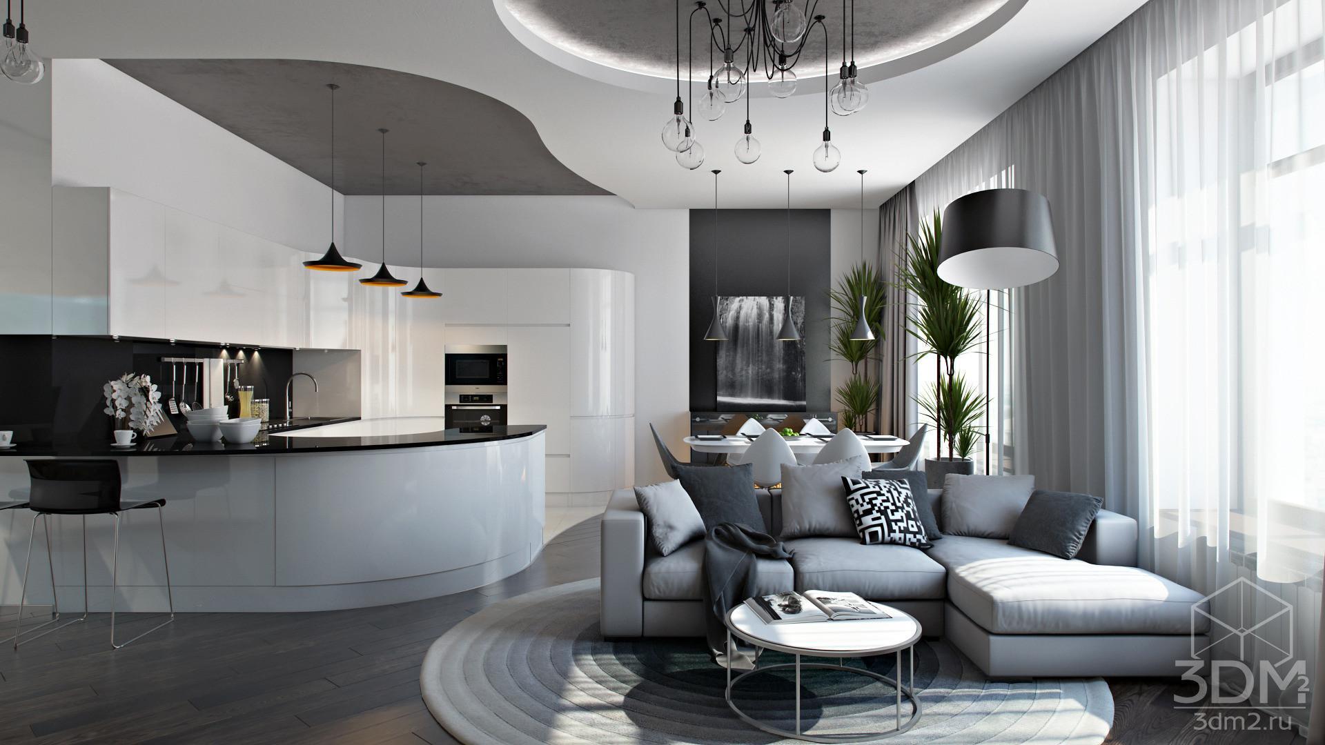 Дизайн интерьера квартир в стиле хай-тек