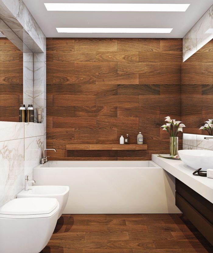 Ванная комната в дереве дизайн