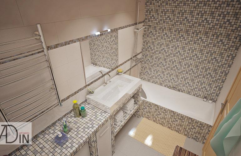 фото ванные комнаты из мозаики