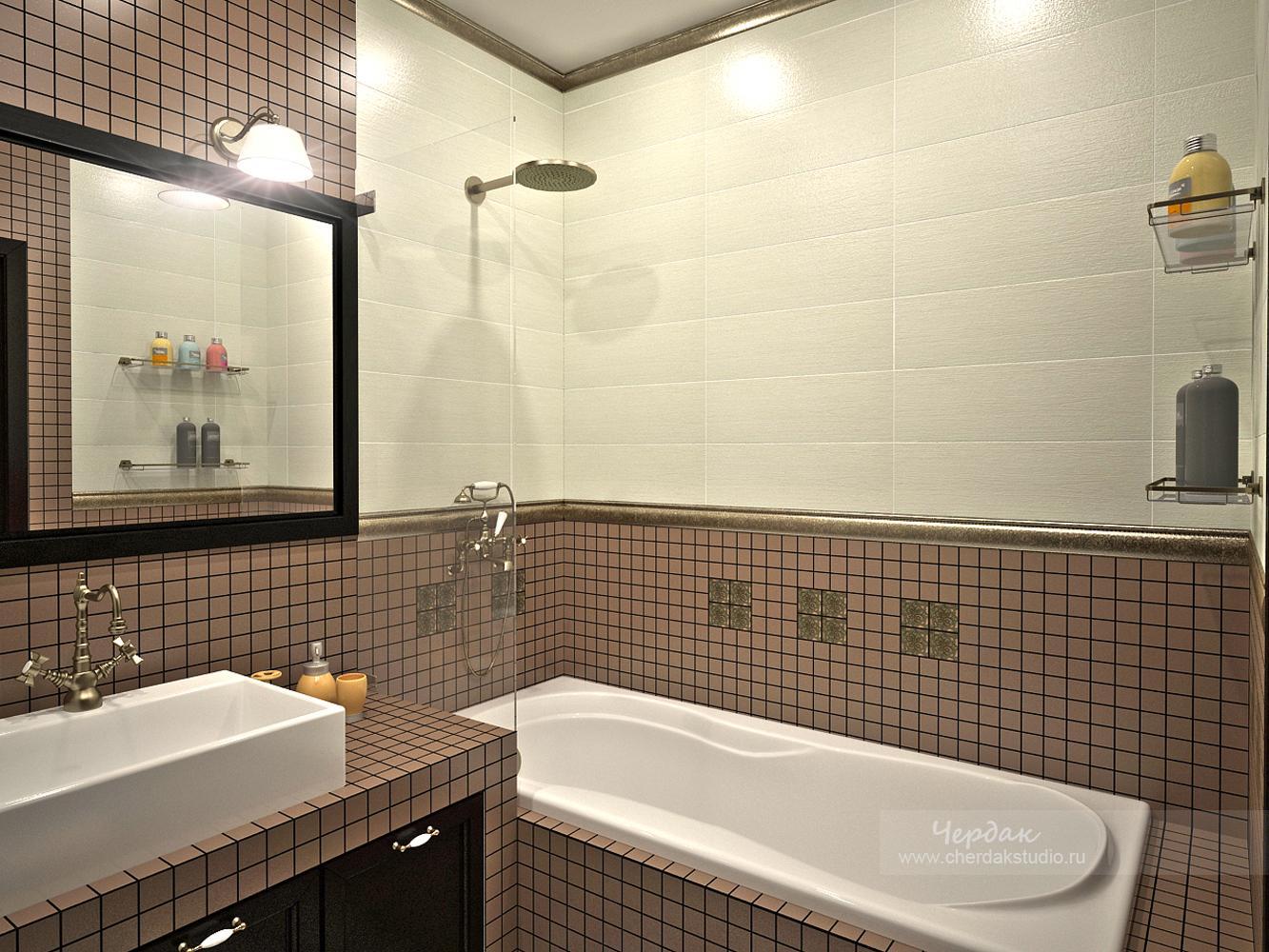 Ванная дизайн мозаика