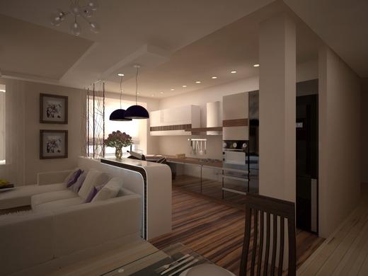 Кухня гостиная дизайн с барной стойкой и диваном