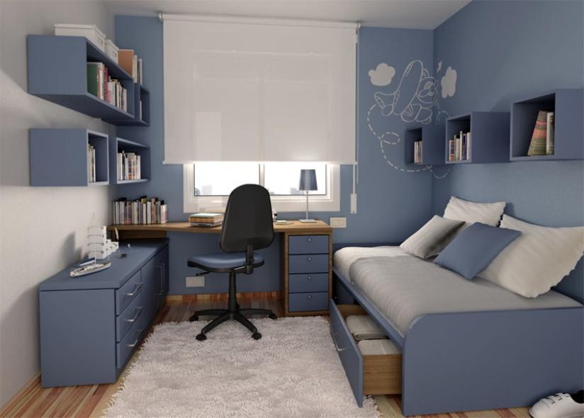 Дизайн маленьких спален для подростка