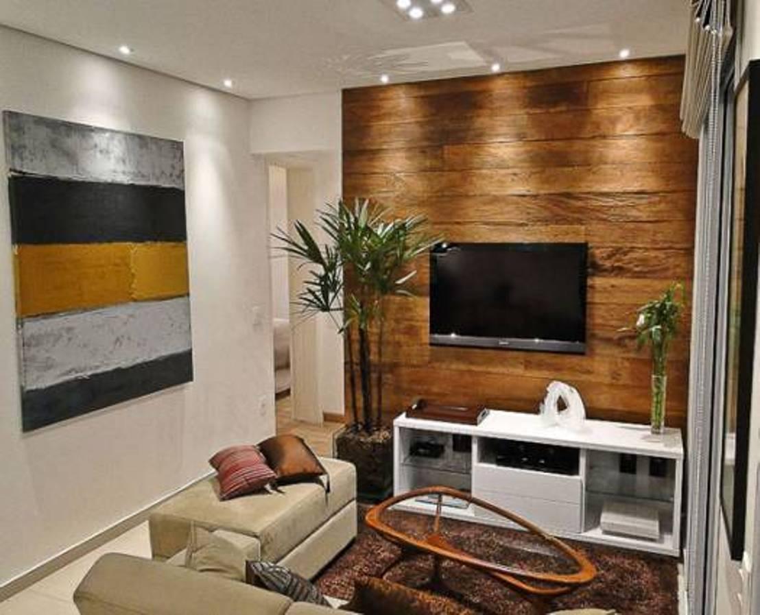 Ламинат в интерьере на стенах квартиры фото