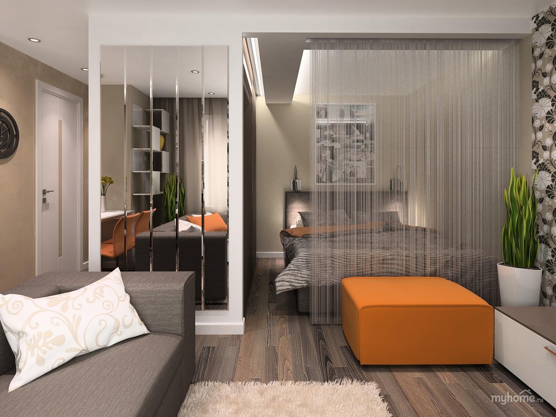 Дизайн ремонта 1 комнатной квартиры 40 кв