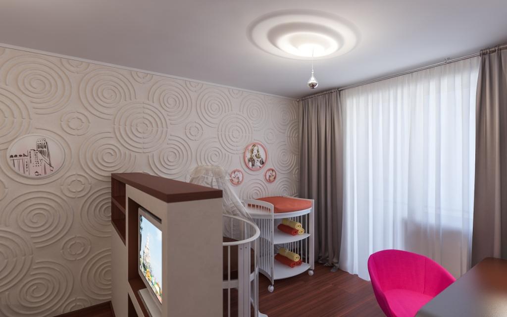 Однокомнатная квартира для родителей с ребенком дизайн