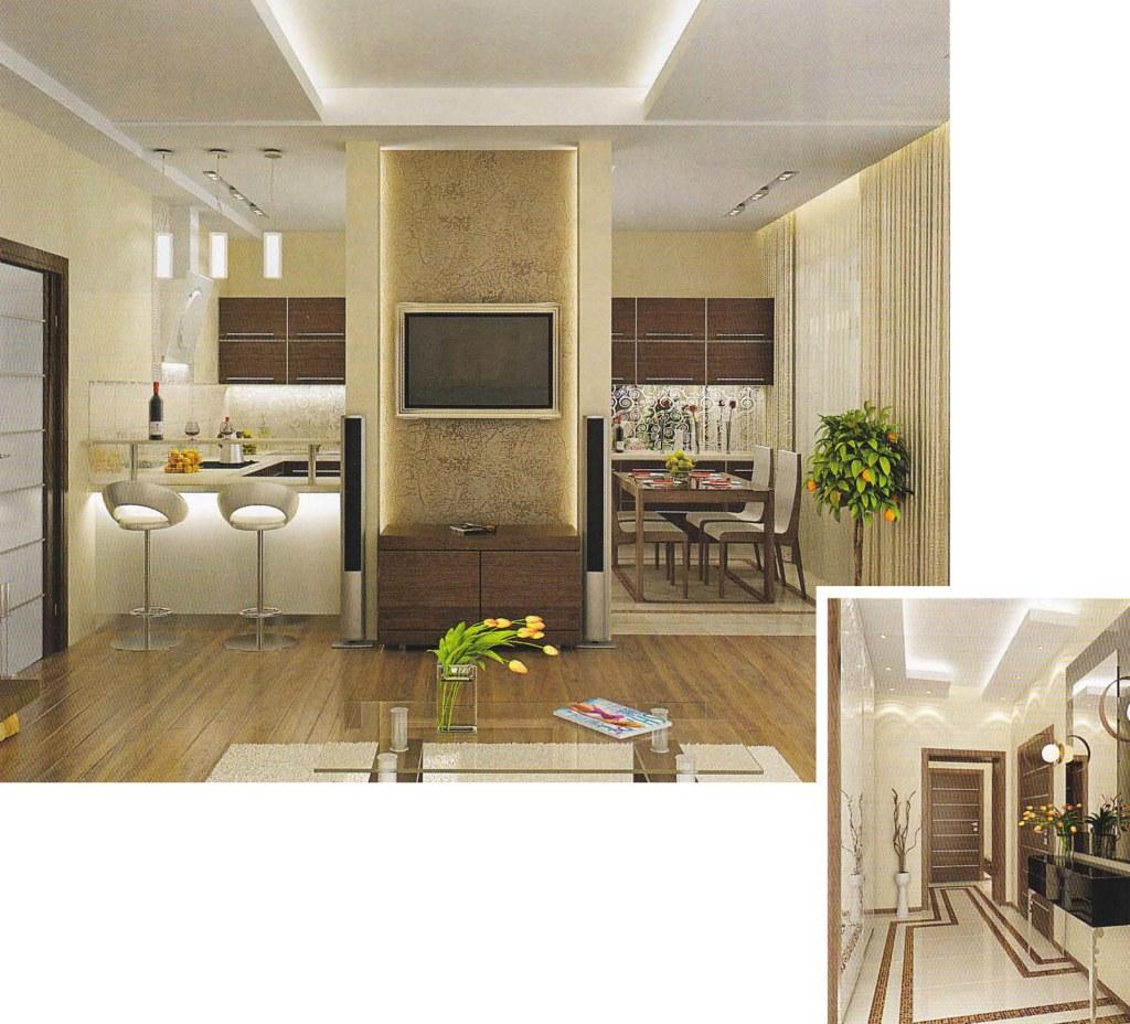 Дизайн проекты гостинной и кухни