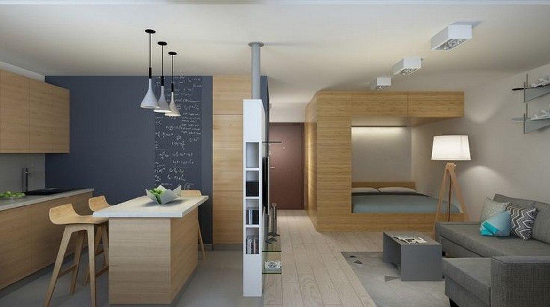 Дизайн однокомнатной квартиры 40 квм в современном стиле не студия