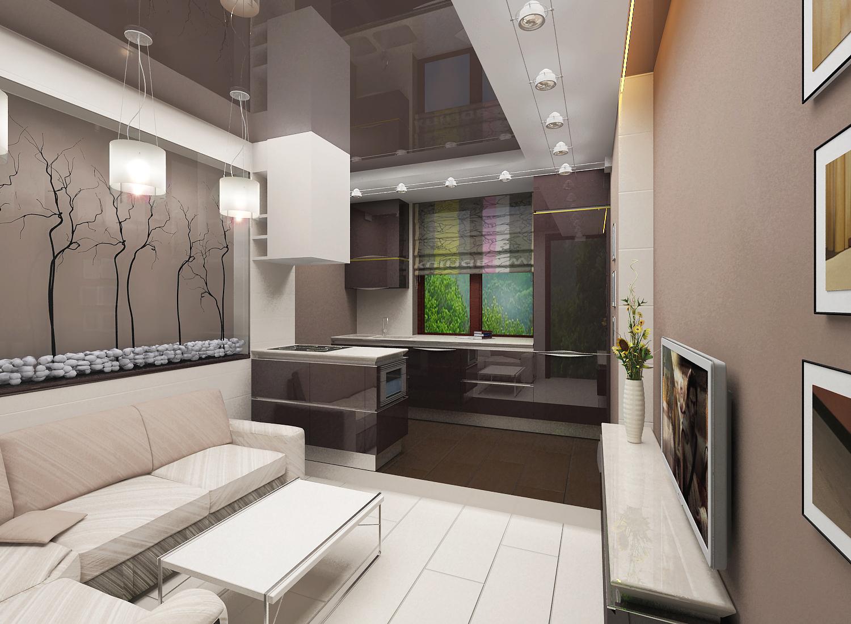 Кухня гостиная 20 квм дизайн минимализм