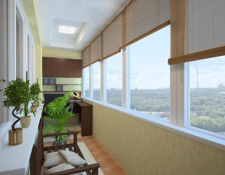 Дизайн теплого балкона