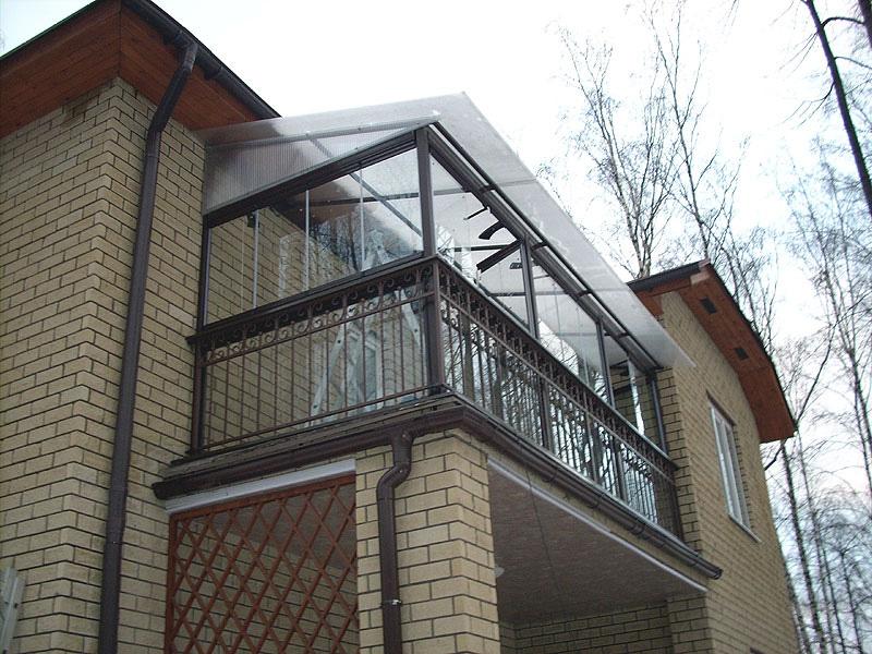 Балконы к частным домам фото