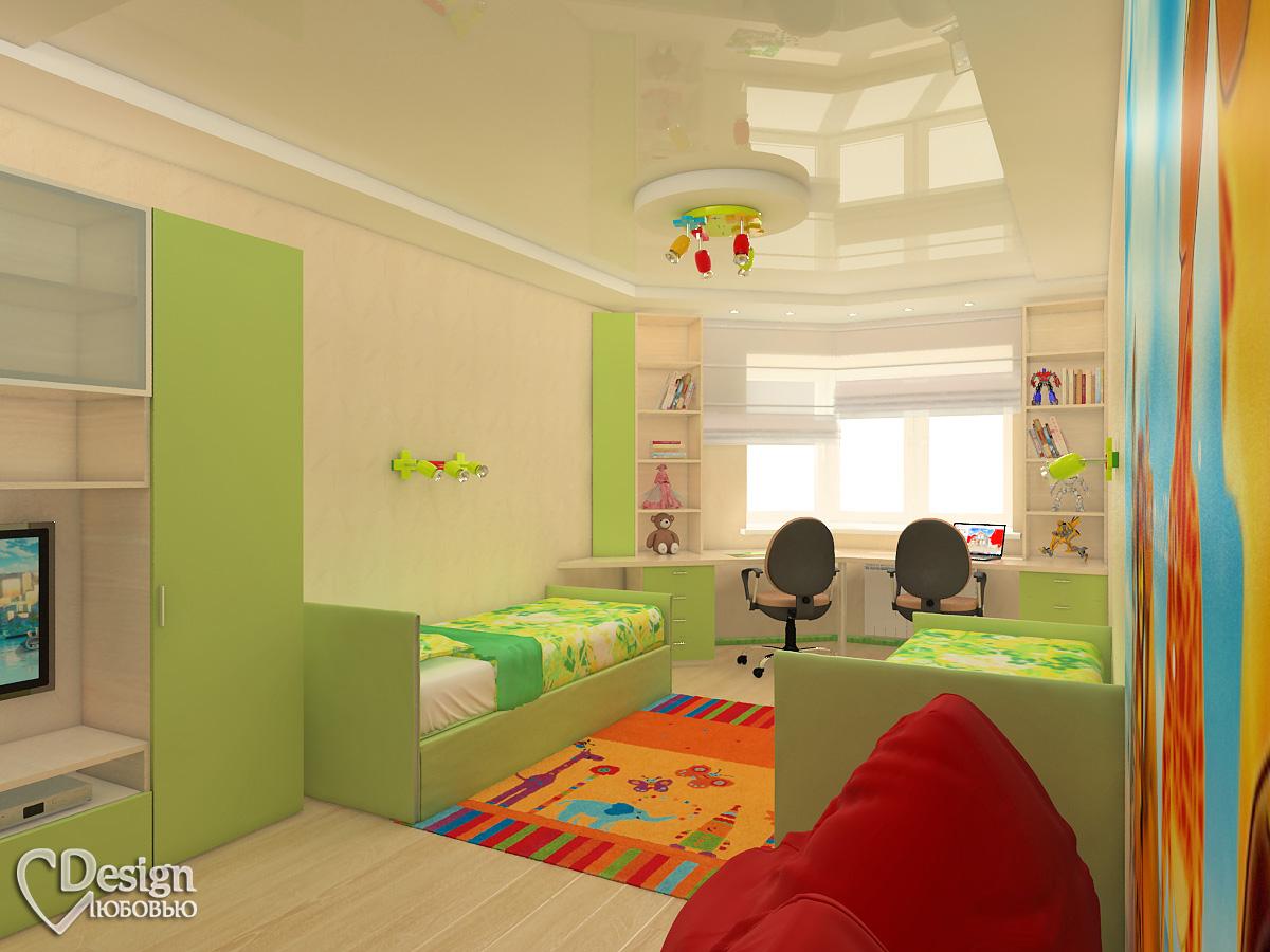 Интерьер детской комнаты фото на двоих детей