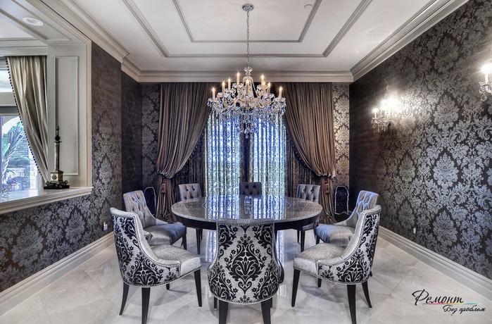 Дизайн комнаты с серебристыми обоями