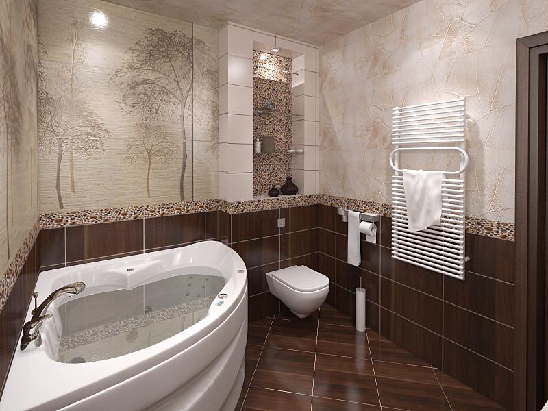 Дизайн совмещенного санузла в частном доме