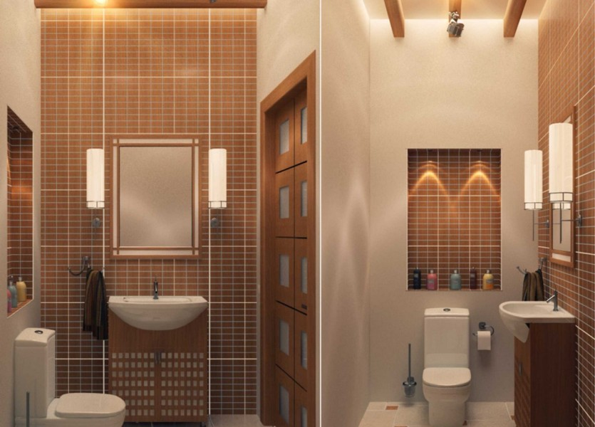 Дизайн туалет в частном доме