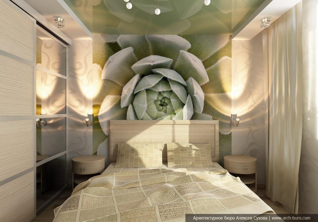 Дизайн спальни малогабаритной