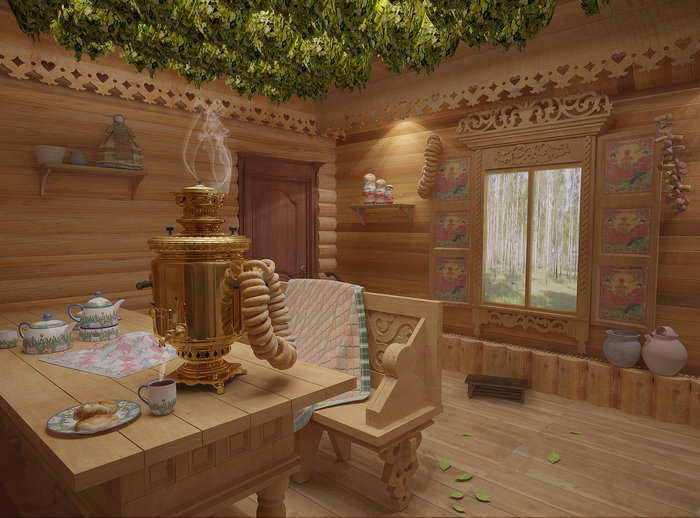 Фото и дизайн русской бани