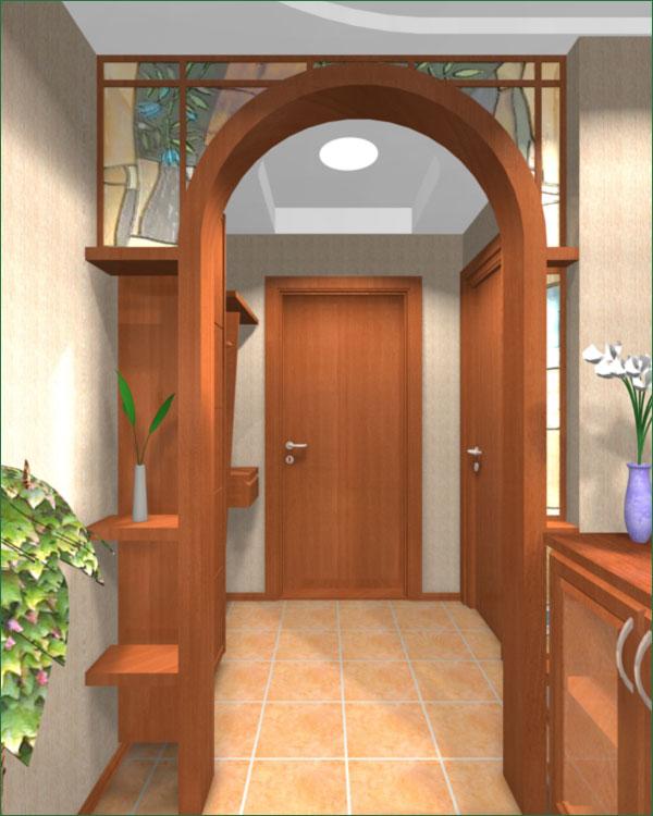 Интерьер коридора в квартире фото с аркой