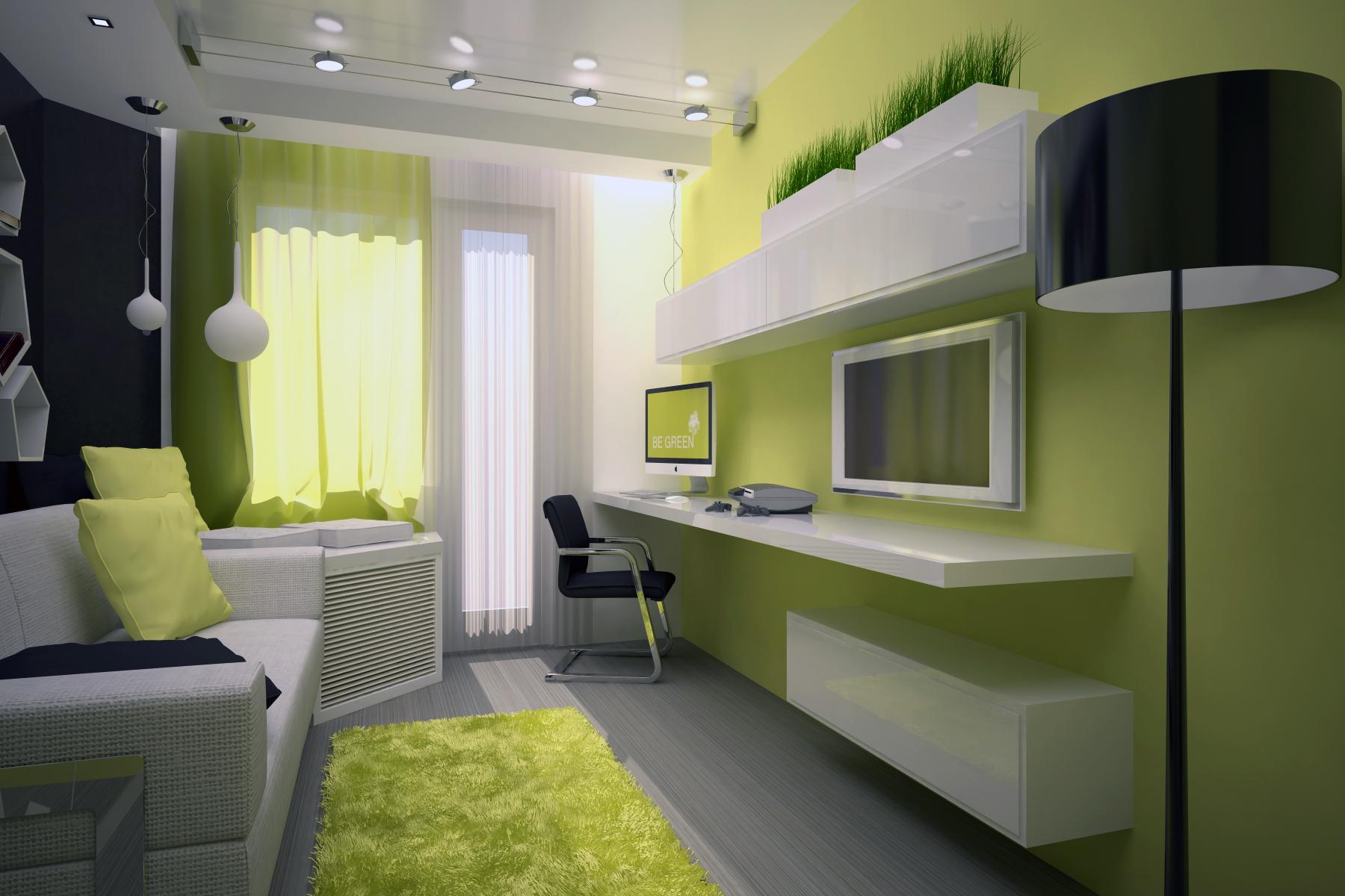 Дизайн подростковой комнаты 15 кв.м