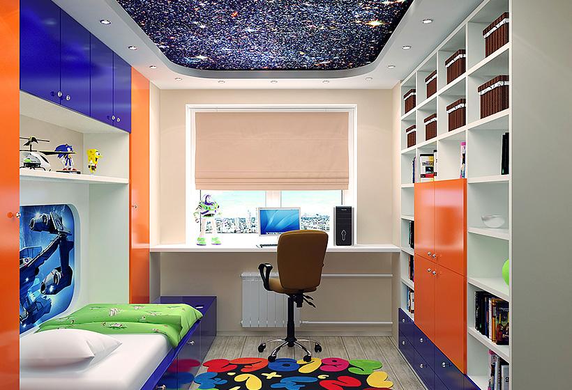 Дизайн детской для мальчика 12 кв м