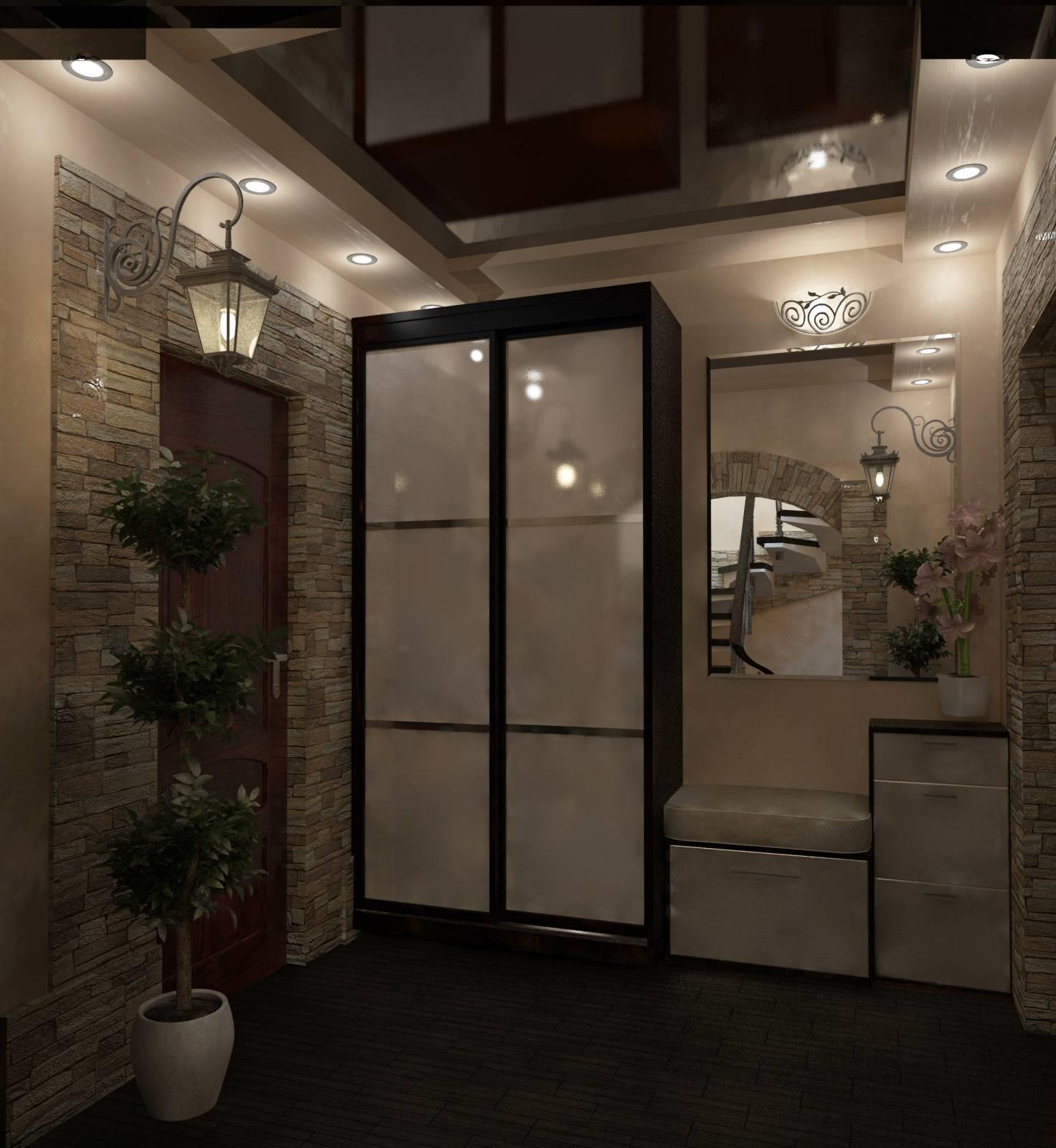 Дизайн шкафов прихожей в частном доме