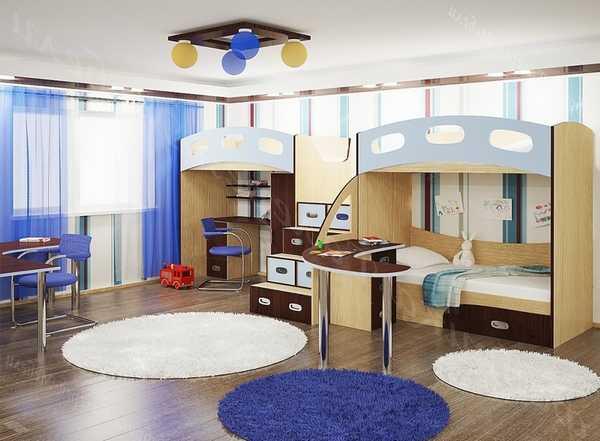 Одна комната на 3 детей дизайн