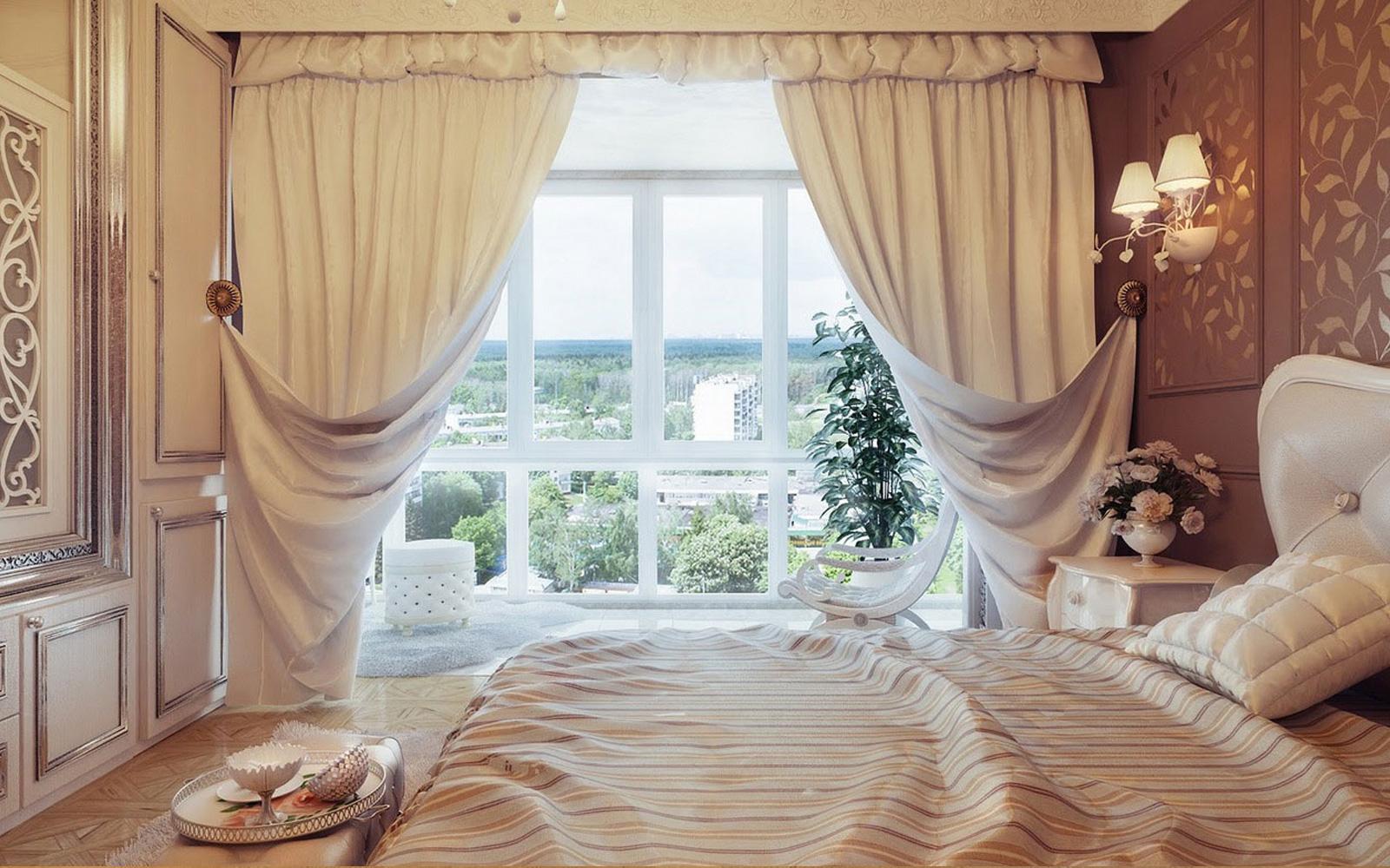 Curtains interior design