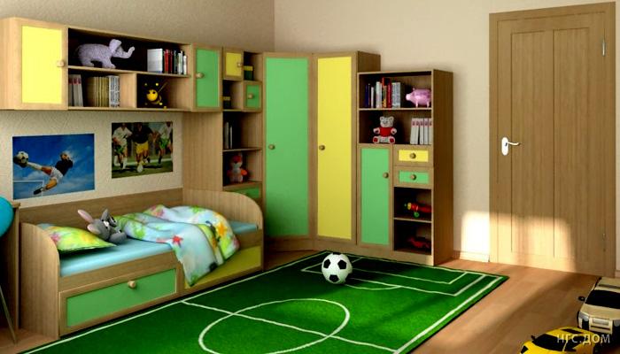 Интерьер для детской комнаты для мальчика дизайн