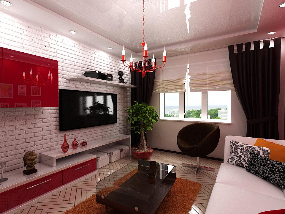 Дизайн 18 м гостинной с