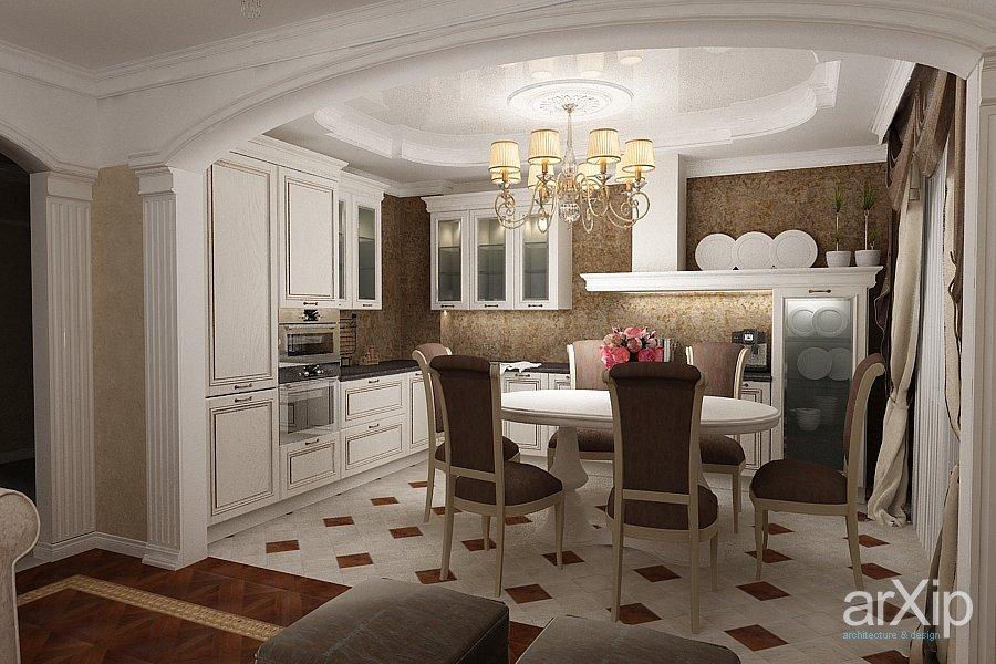 кухня гостиная дизайн фото в классическом стиле