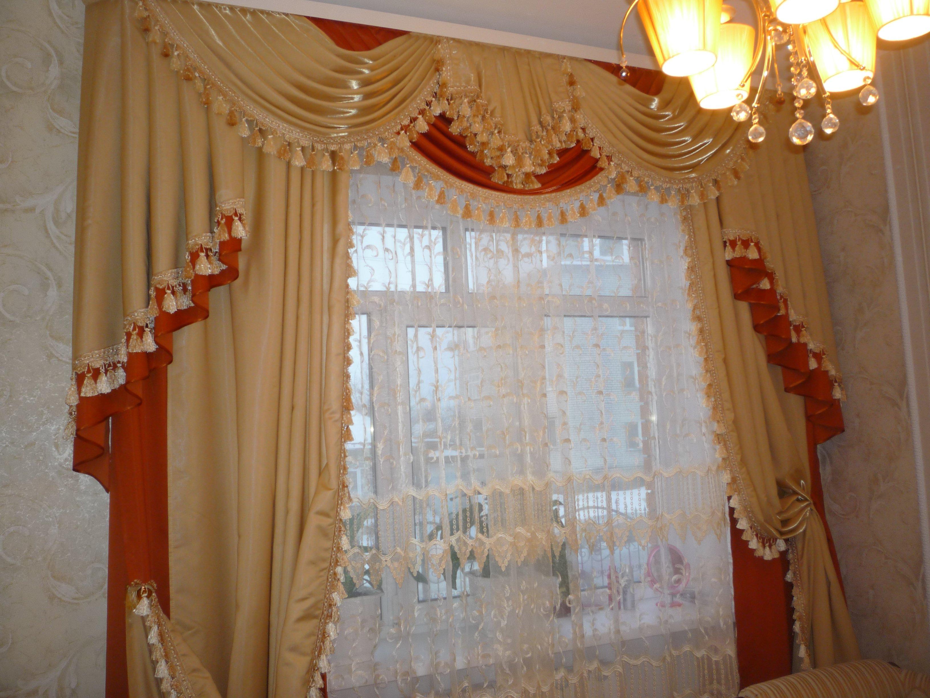 Шьем шторы для залы своими руками 915