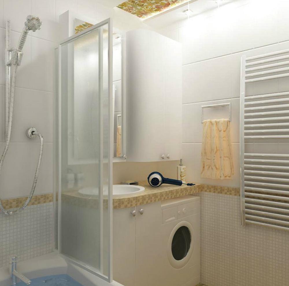 Маленькая ванная комната 4 кв метра дизайн с душевой кабиной