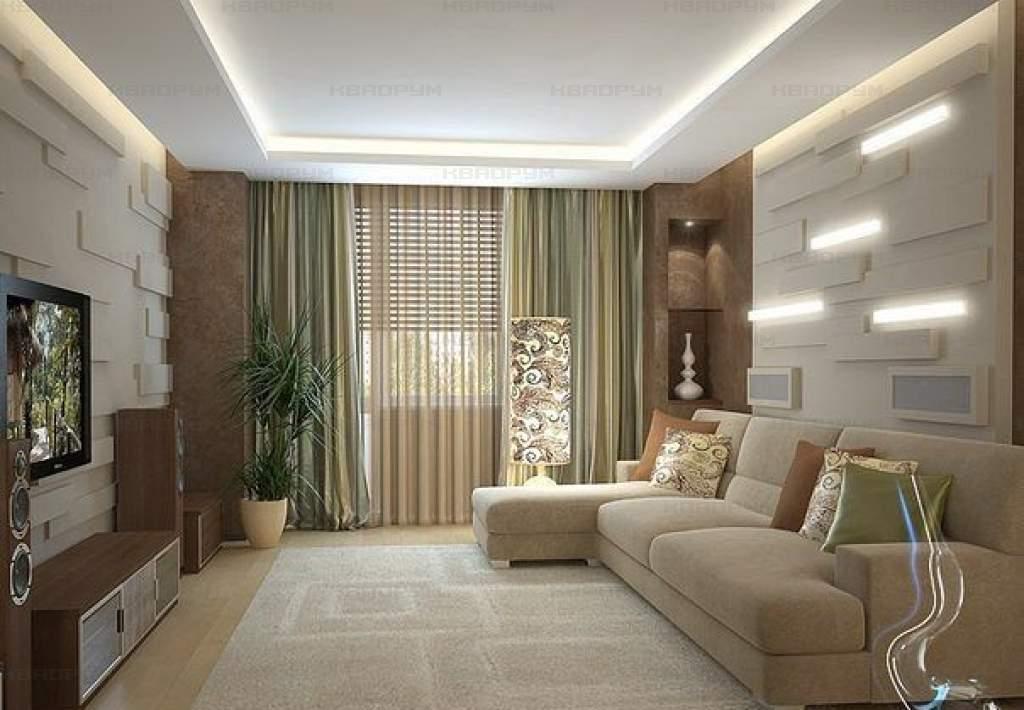 Living room design 18 meters - home decoration.