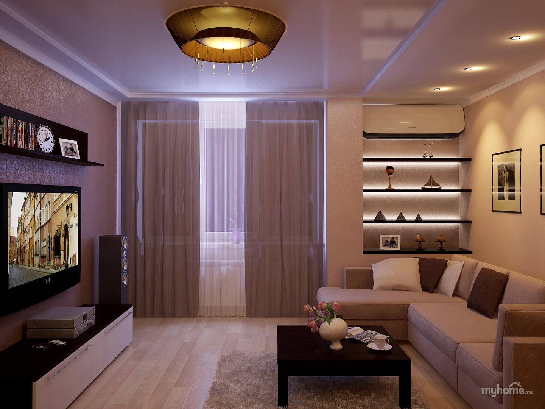 Дизайн гостиной в квартире 18 кв м интерьера