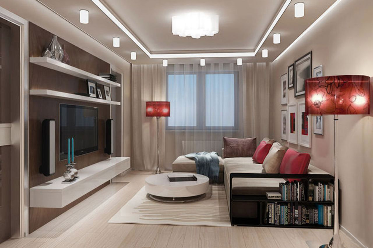 Дизайн комнаты гостиной 16 кв м