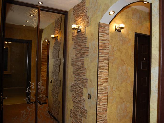 Дизайн стен в прихожей