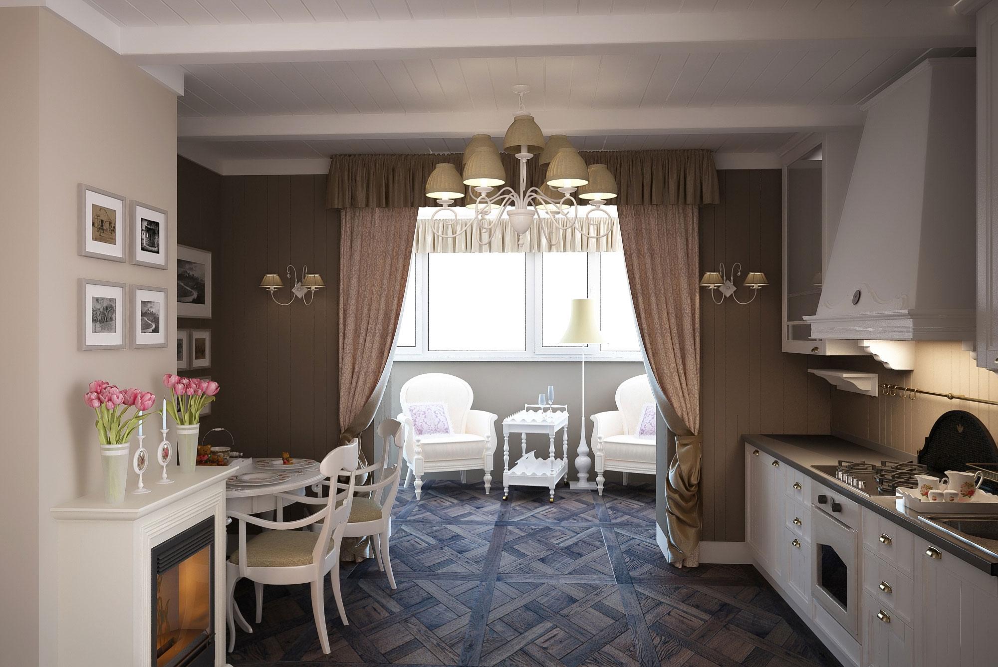 """Кухня совмещенная с балконом дизайн фото """" современный дизай."""
