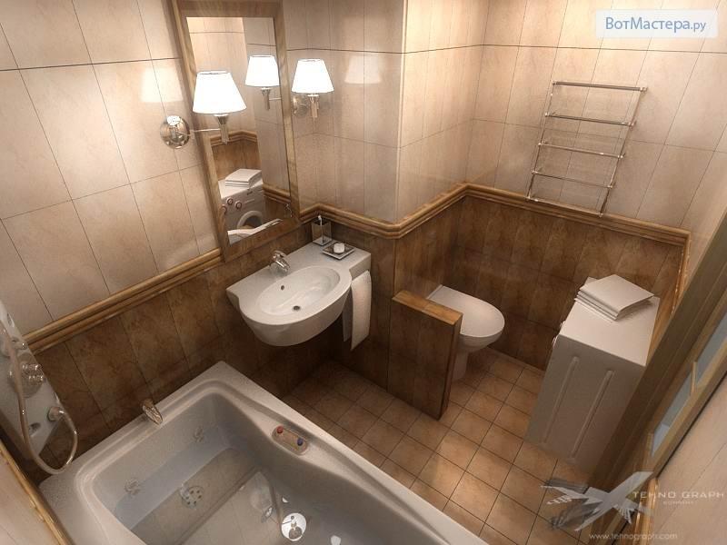 Как разделить ванную с туалетом