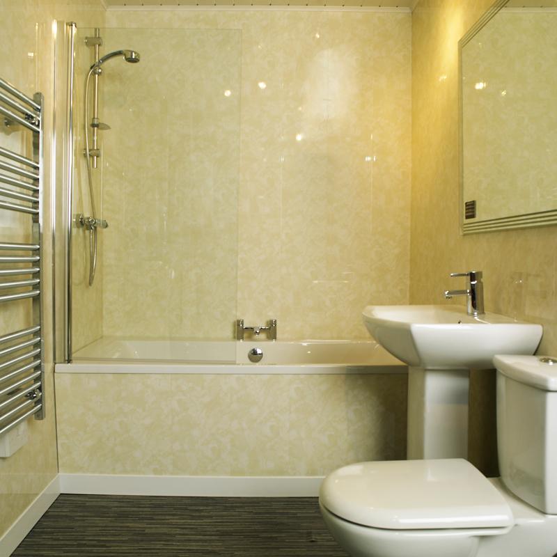 Фото дизайна ванной из пластика
