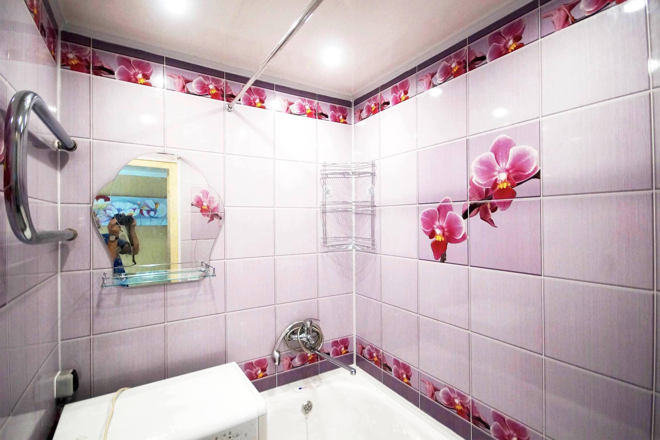 Дизайн панели в ванной