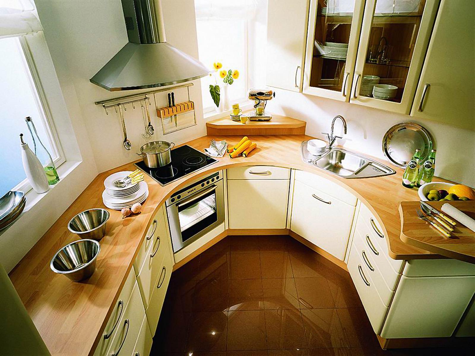 Нестандартные маленькие кухни дизайн