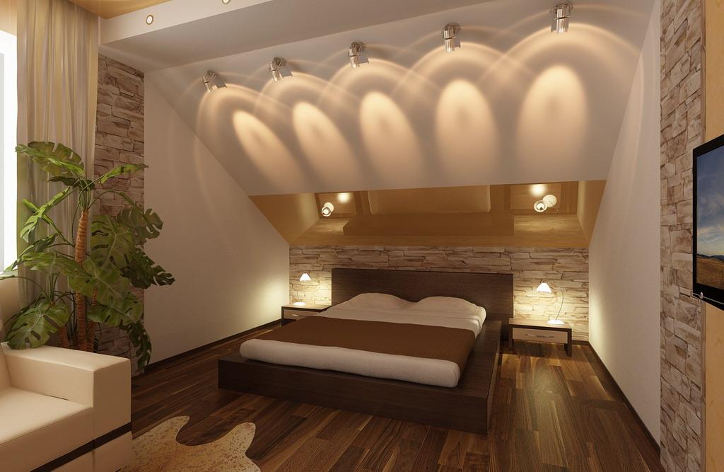 Потолок мансарда дизайн