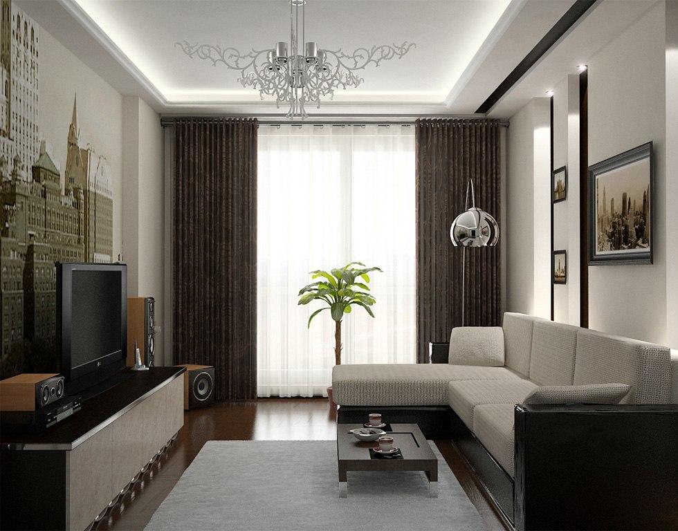 Зал дизайн квартиры
