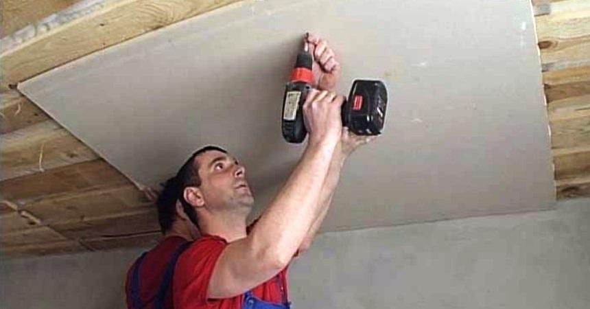 Как сделать потолок с гипсокартона в деревянном доме