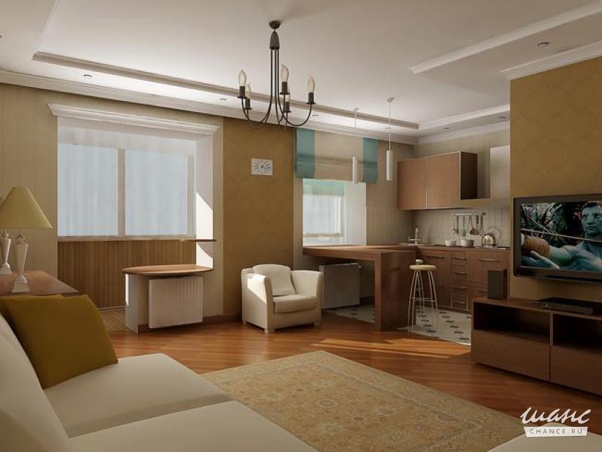 Квартира студия с двумя окнами дизайн