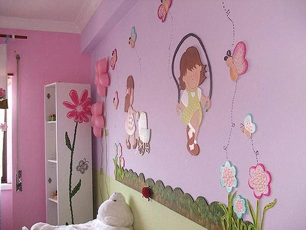 """Декор стены в детской своими руками """" Современный дизайн"""